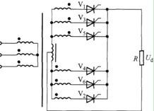 双反星带平衡电抗器整流电路及波形