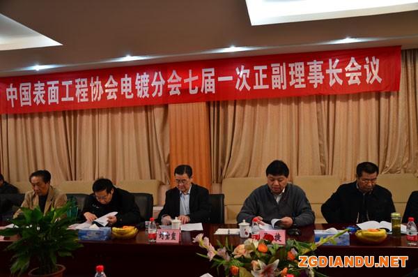 中国表面工程协会电镀分会第七届一次正副理事长会议
