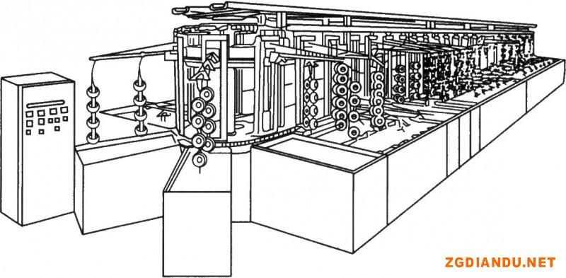 垂直升降式环形电镀自动线