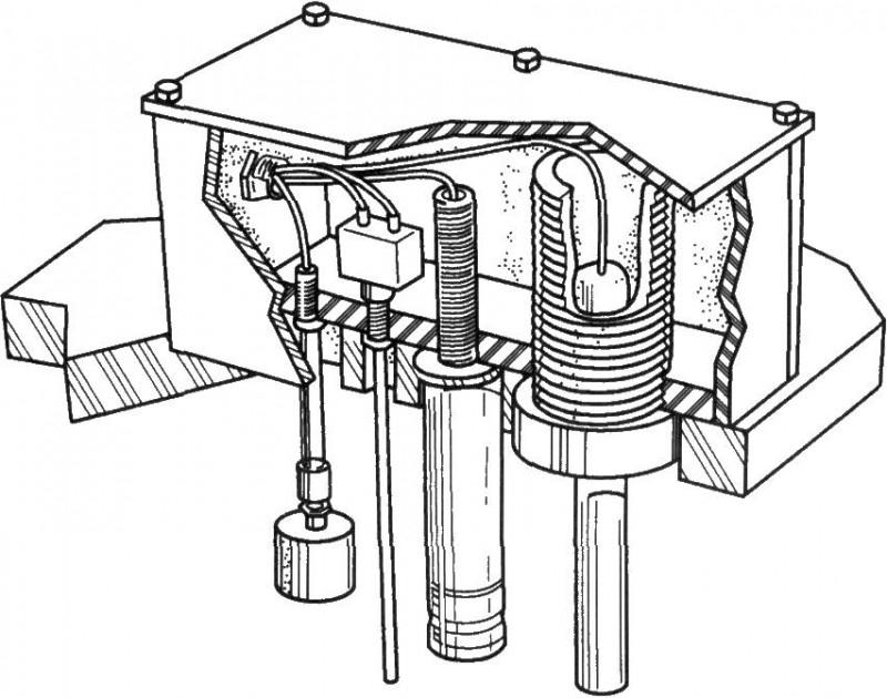 安装在镀槽上面的典型传感器
