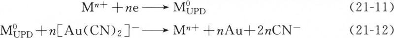 UPD离子对金的还原起催化剂作用