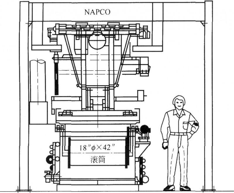 自动化滚镀机器的剖面图