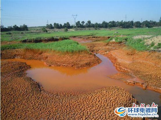 被电镀废水污染的土壤