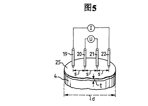 四点法电阻测量的结构