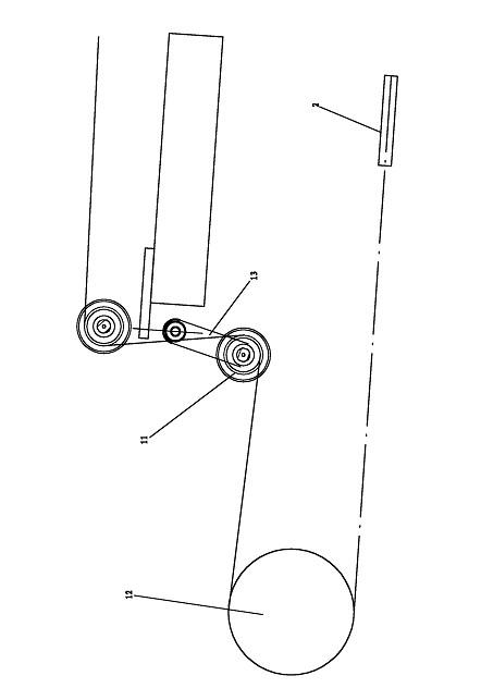 一种循环式镀锡装置的定速及缓冲装置的结构示意图