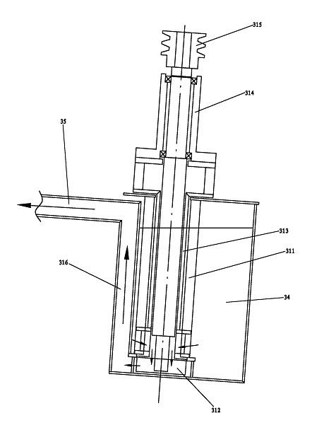 一种循环式镀锡装置的锡循环泵的结构示意图