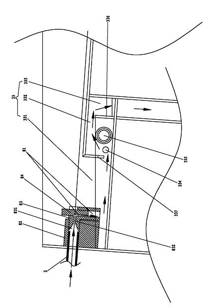 一循环式镀锡装置的回锡槽及镀锡模的结构示意图
