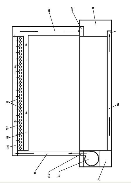 一种循环式镀锡装置的锡循环示意图