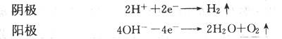 电解过程氢气氧气逸出方程式