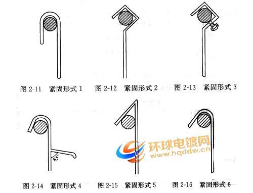 电镀挂具中吊钩的坚固形式